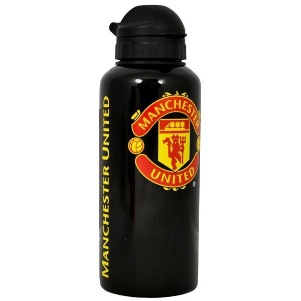 Manchester United Aluminium Water Bottle - Black