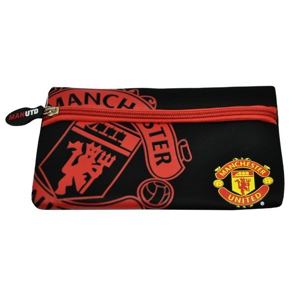 Manchester United Big Logo Flat Pencil Case