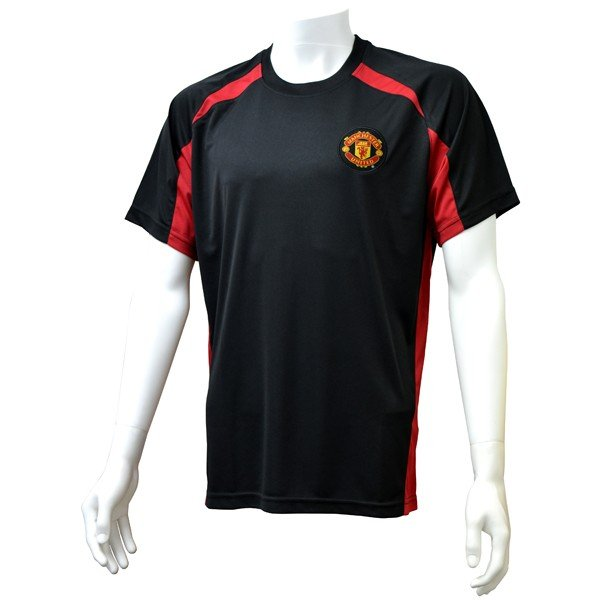 Manchester United Black Panel Mens T-Shirt - S