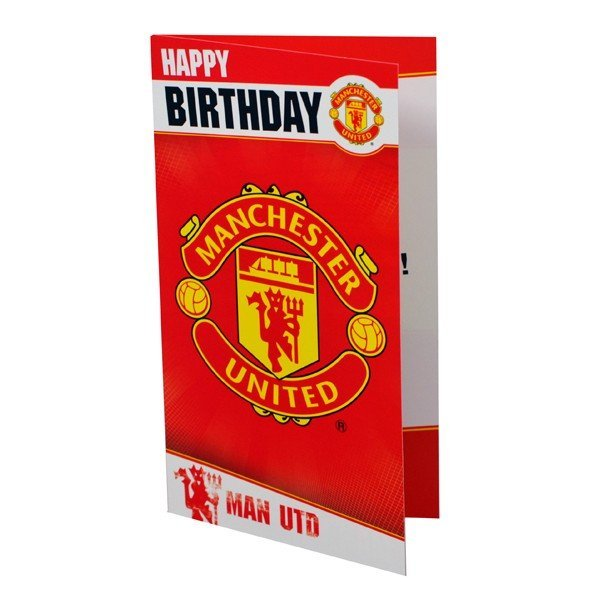 Manchester United Club Crest Birthday Card - 6PK