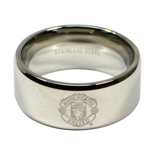 Manchester United Crest Band Ring - Small