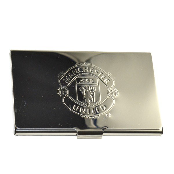 Manchester united crest embossed business card holder beautifeye reheart Images