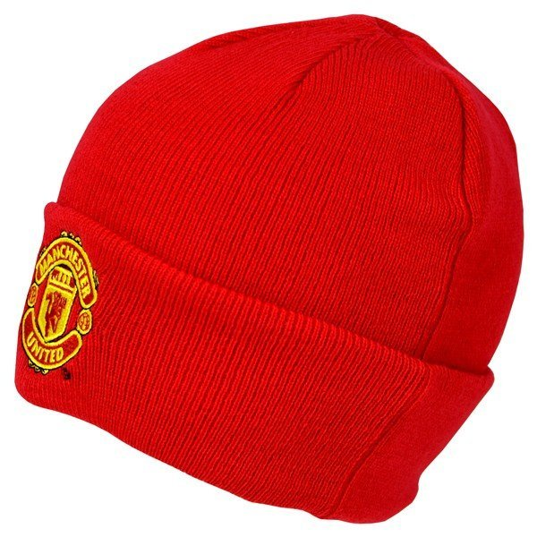 Manchester United Cuff Knitted Hat - Red
