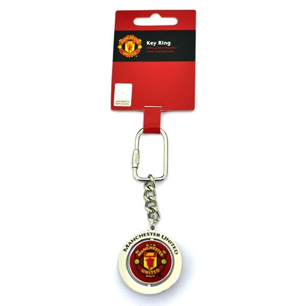 Manchester United Football Spinner Keyring