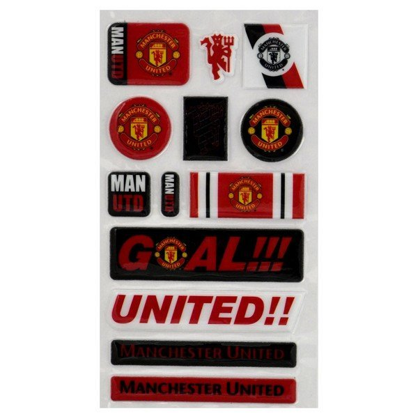 Manchester United Fun Bubble Sticker Set