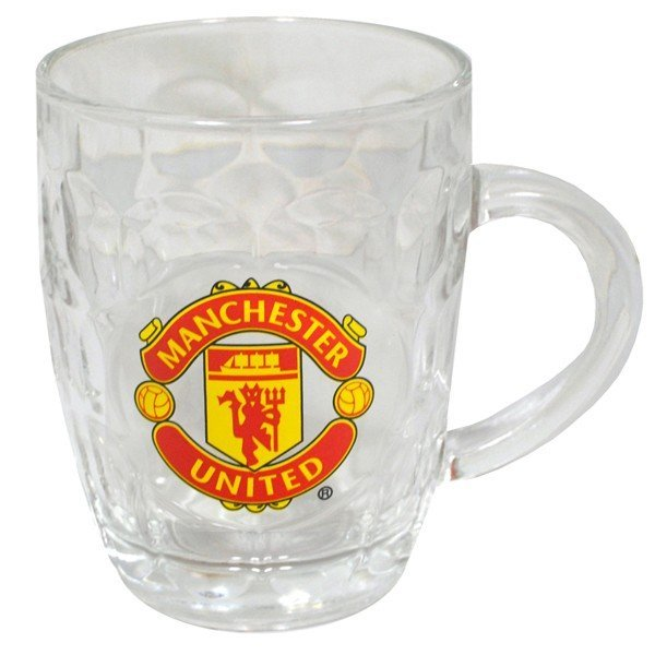 Manchester United Glass Tankard