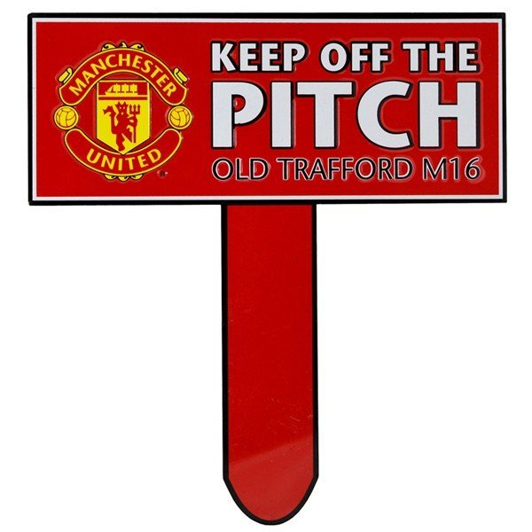 Manchester United Keep Off The Pitch Garden Sign
