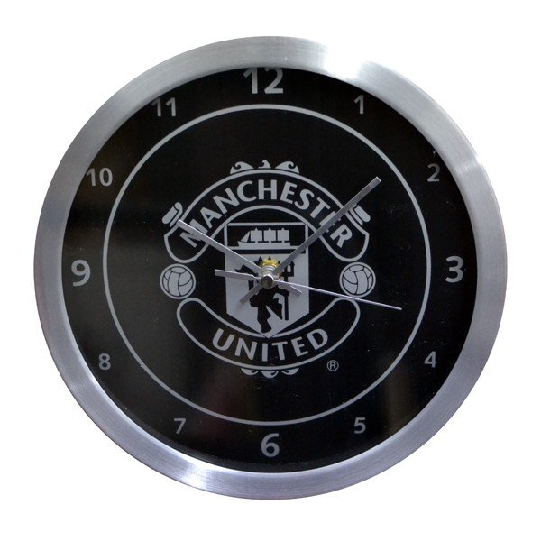 Manchester United Metallic Wall Clock