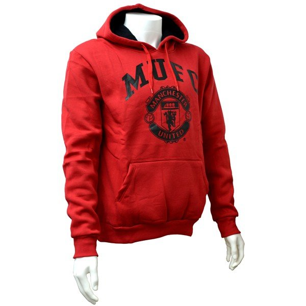 Manchester United Red Crest Mens Hoody - L