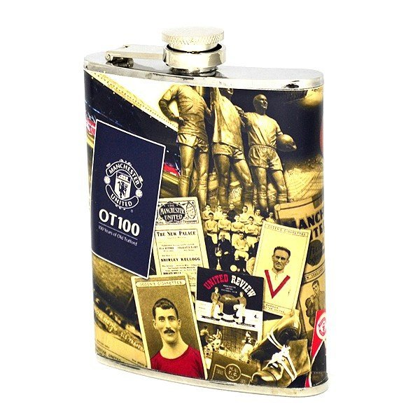 Manchester United Retro Hipflask