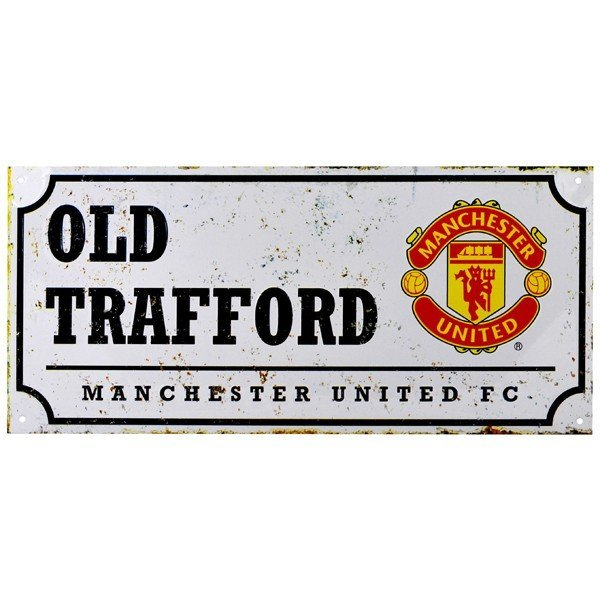 Manchester United Retro Street Sign