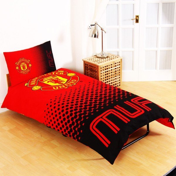 Manchester United Reversible Fade Single Duvet Set
