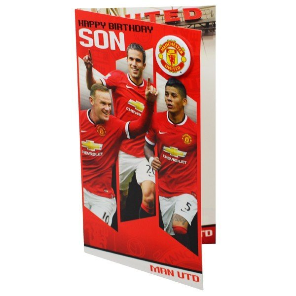Manchester United Son Birthday Card - 6PK
