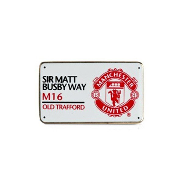 Manchester United Street Sign Pin Badge