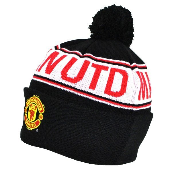 Manchester United Text Cuff Knitted Hat