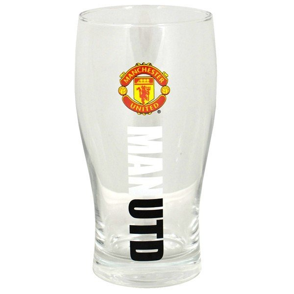 Manchester United Wordmark Crest Pint Glass