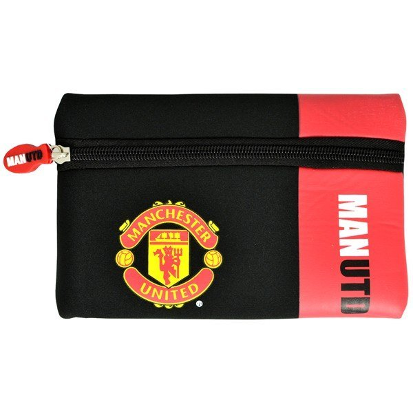 Manchester United Wordmark Flat Pencil Case