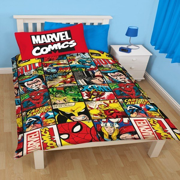 Marvel Comics Defenders Reversible Single Duvet
