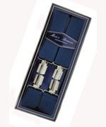 Men's Hardwearing Navy 35mm Fashion Braces