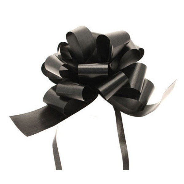 Midwest Ribbons 1.25 Inch Pull Bows - Black