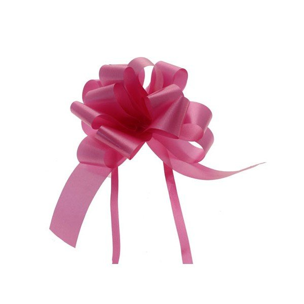 Midwest Ribbons 1.25 Inch Pull Bows - Cerise