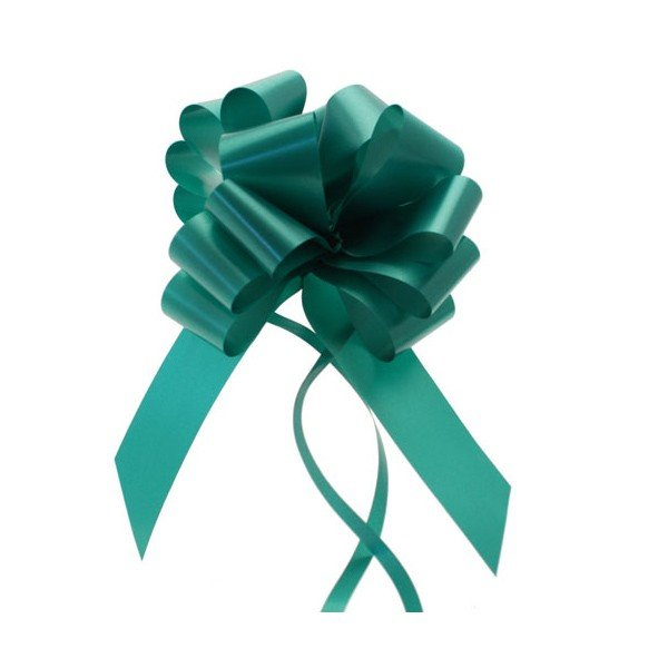 Midwest Ribbons 1.25 Inch Pull Bows - Emerald