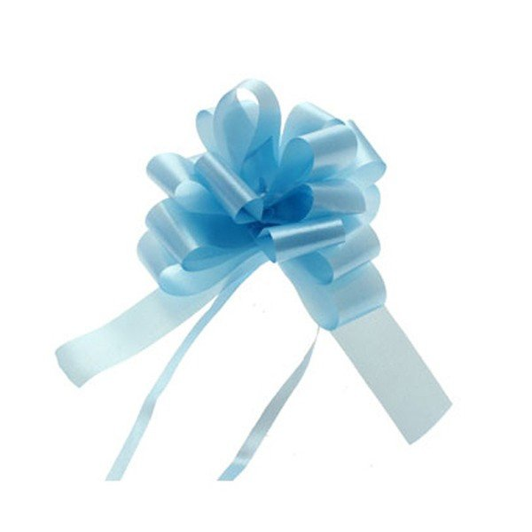 Midwest Ribbons 1.25 Inch Pull Bows - Light Blue