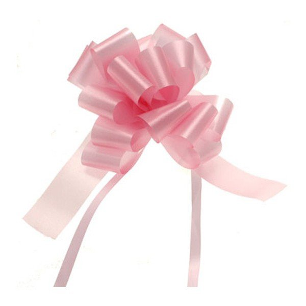 Midwest Ribbons 1.25 Inch Pull Bows - Light Pink