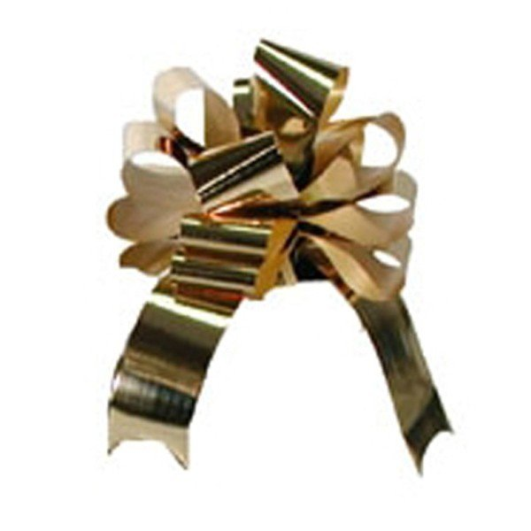 Midwest Ribbons 2 Inch Foil Pull Bows - Gold