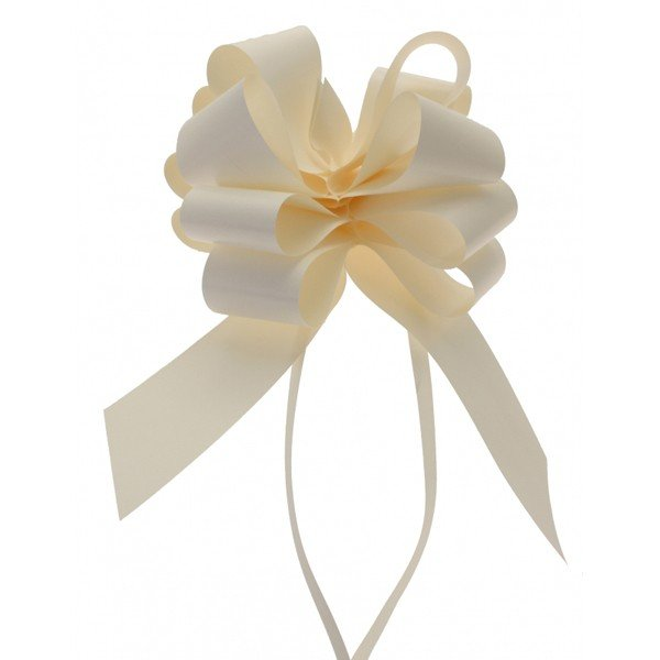 Midwest Ribbons 2 Inch Pull Bows - Ivory