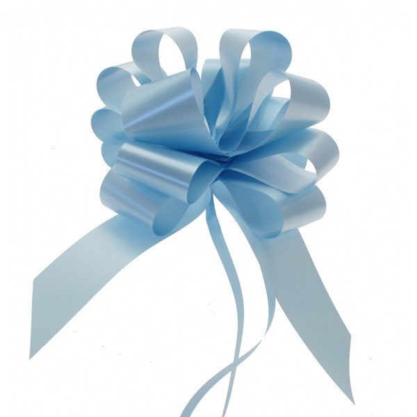 Midwest Ribbons 2 Inch Pull Bows - Light Blue