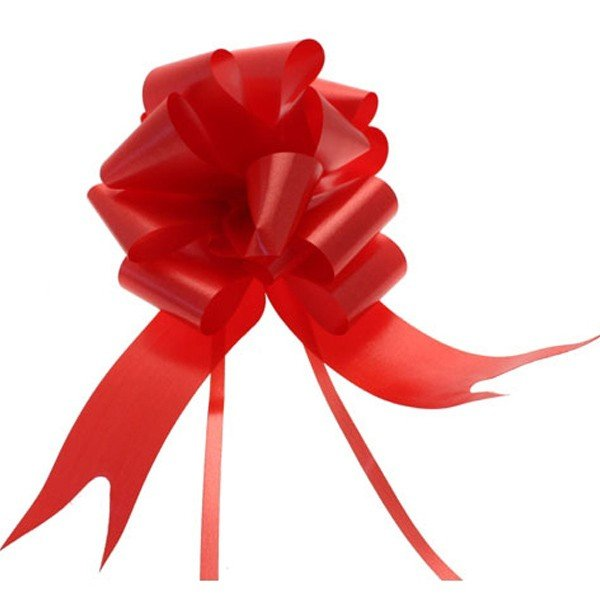 Midwest Ribbons 2 Inch Pull Bows - Red