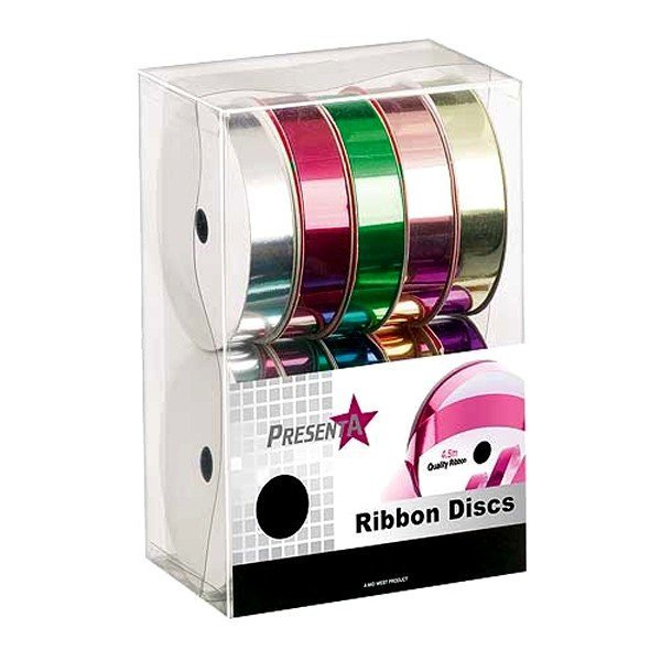 Midwest Ribbons Assorted Metallic Ribbon Discs