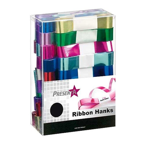 Midwest Ribbons Assorted Metallic Ribbon Hanks