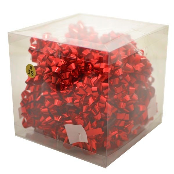 Midwest Ribbons Metallic Confetti Bows - Red