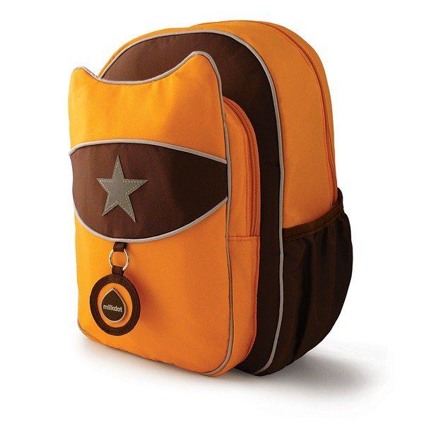 Milkdot Top Kat Backpack - Tangerine