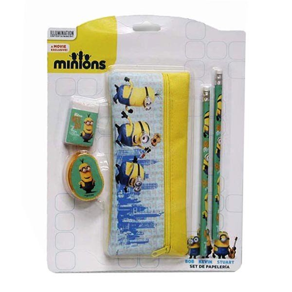 Minions 5Pc Stationery Set