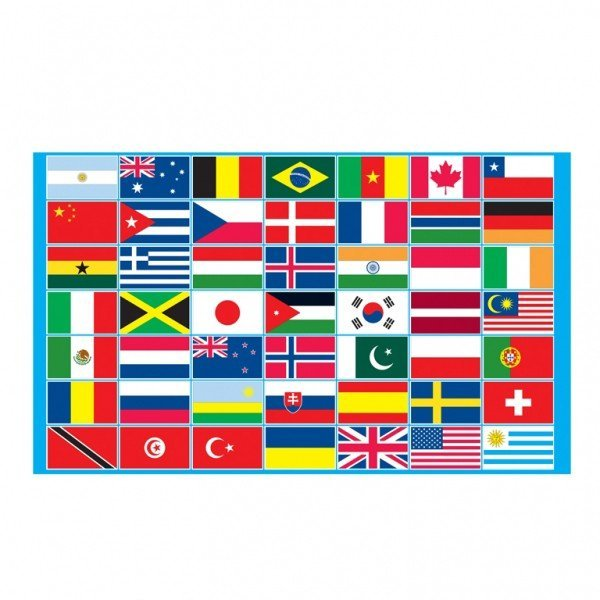 Multi Country Flag (5cmx3cm)