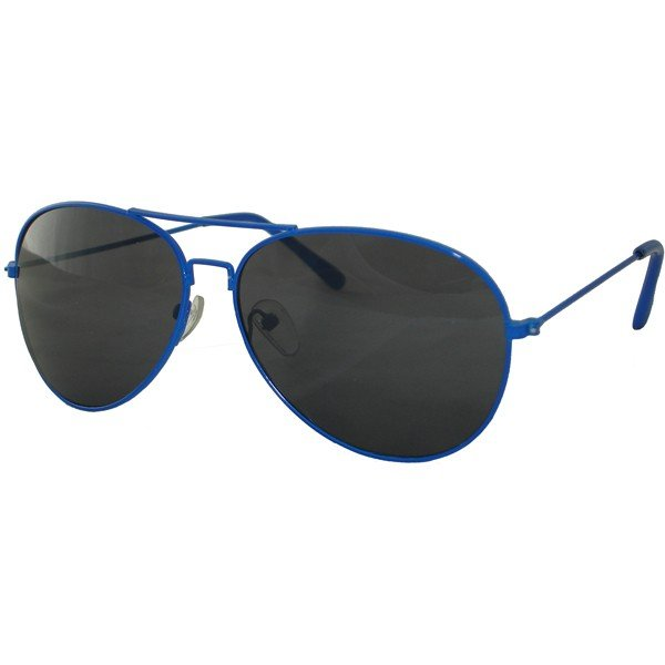 Neon Blue Aviator Sunglasses One Size Fits All UV400 Protection