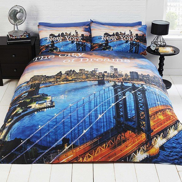 New York The City Of Dream Double Duvet Set