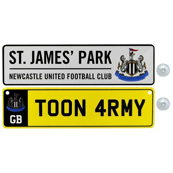 Newcastle United 2PK Fridge & Window Signs