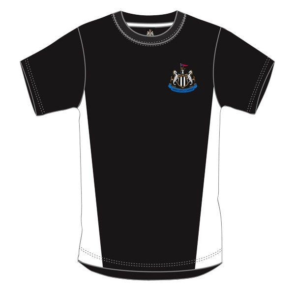 Newcastle United Black Crest Mens T-Shirt - XL