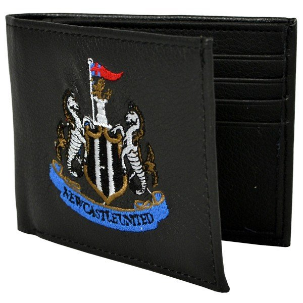 Newcastle United Crest Embroidered PU Leather Wallet