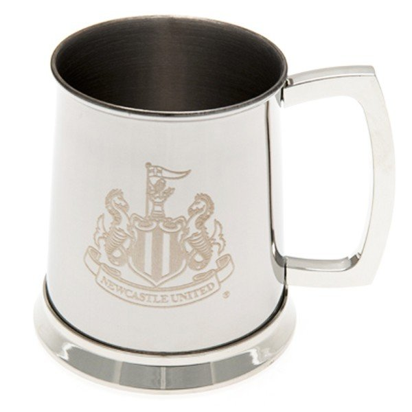 Newcastle United Crest Printed Chrome Tankard