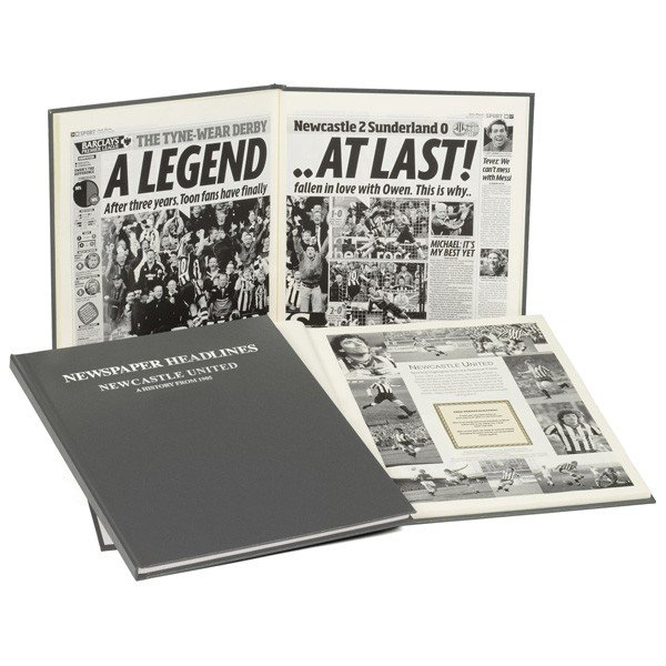 Newcastle United Grey Cover Football Book