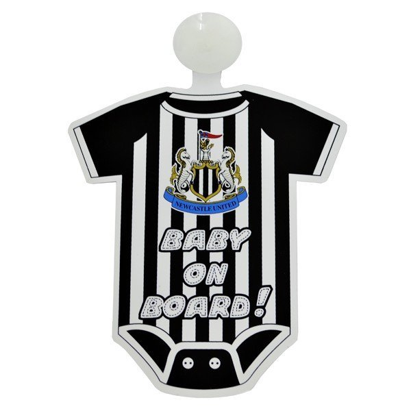 Newcastle United Kit Baby On Board Sign