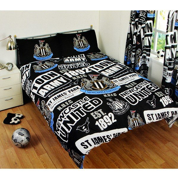 Newcastle United Patch Double Duvet Set