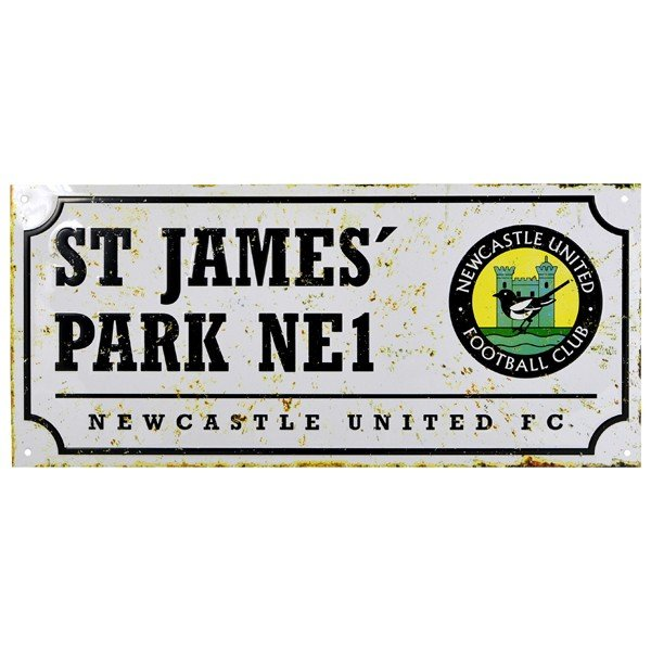 Newcastle United Retro Street Sign