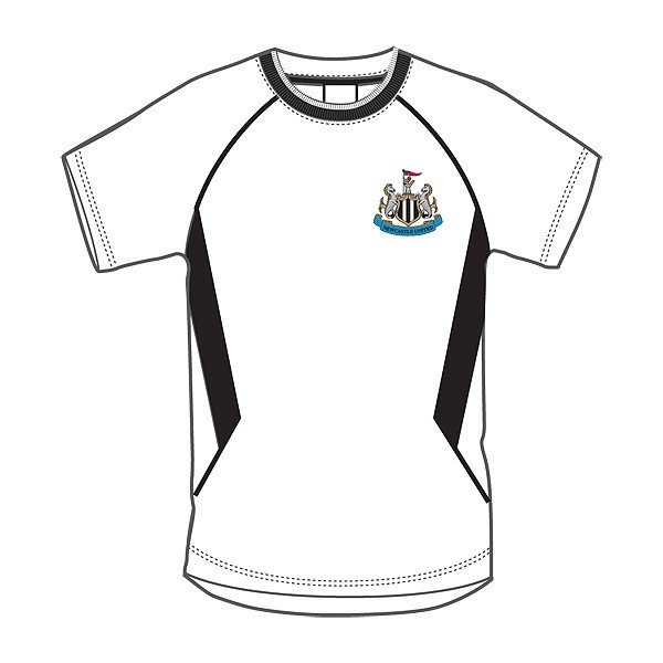 Newcastle United White Panel Mens T-Shirt - XS