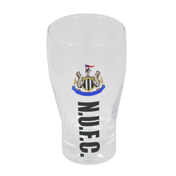 Newcastle United Wordmark Crest Pint Glass